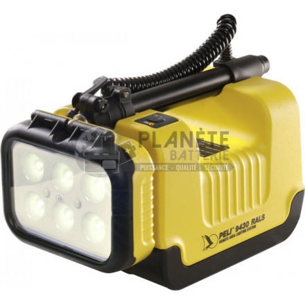 PROJECTEUR DE CHANTIER RECHARGEABLE À 6 LED - DOUBLE INTENSITÉ - PELI RALS 9430
