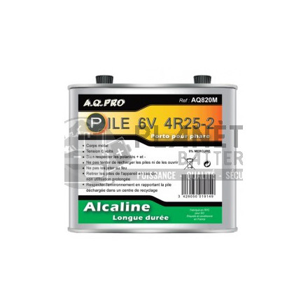 Pile Alcaline : Pile LR820 - Porto - Alcaline 6V métal AQPRO