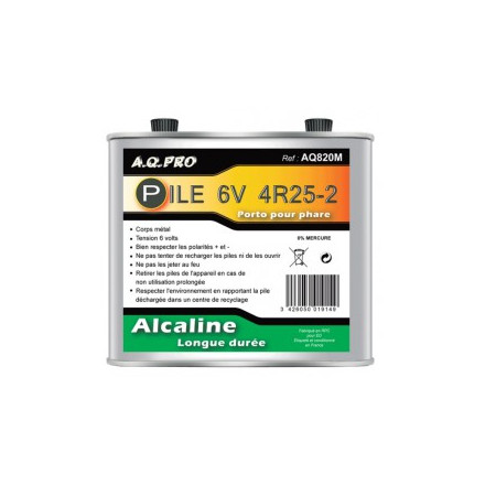 Pile LR820 - Porto - Alcaline 6V métal AQPRO