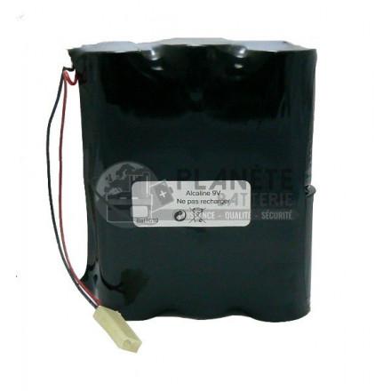 Pile Alcaline : Pack de piles alcalines compatible Silentron 861010 - 9V - 18Ah BATSECUR