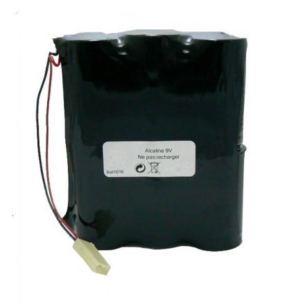 Pack de piles alcalines compatible Silentron 861010 - 9V - 18Ah BATSECUR