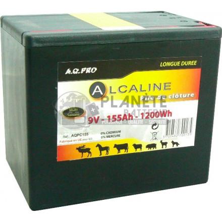Pile cloture électrique - Alcaline 9V - 155Ah AQPRO