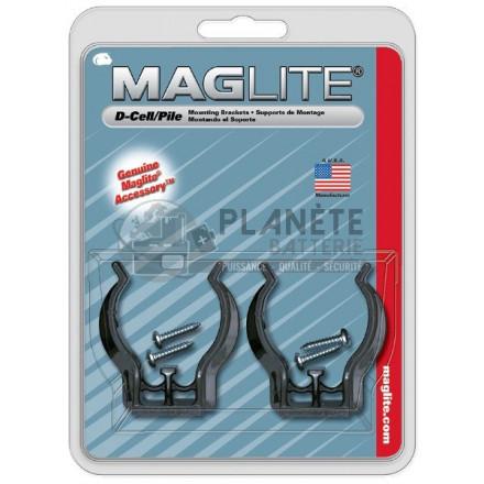 2 Crochets de fixation pour torche MAGLITE de la gamme MAGLITE ML ou MAG CHARGER