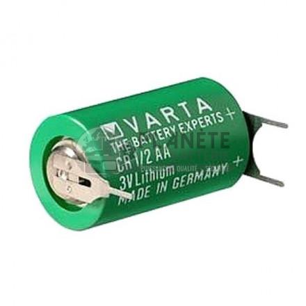 Pile Lithium : Pile CR1/2AA lithium industrielle  3V VARTA avec picots