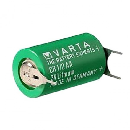 Pile CR1/2AA lithium industrielle  3V VARTA avec picots