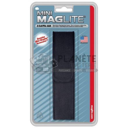 Etui de ceinture en nylon noir pour torche MAGLITE super mini R3