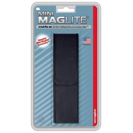 Etui de ceinture en nylon noir pour torche MAGLITE mini R6