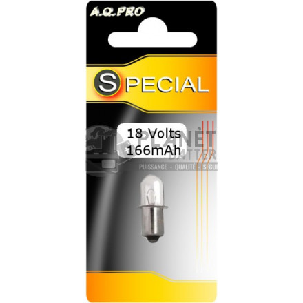 Accessoires et Ampoules : Ampoule Standard - Culot baïonnette - 18V - 0.166A