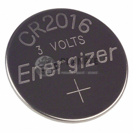 Pile CR2016 - Lithium - 3V ENERGIZER