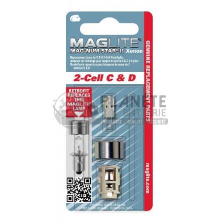 Ampoule Xénon MAGLITE pour torche MAGLITE ML2. LCL2 - 2D. 2C - Culot lisse préfocus