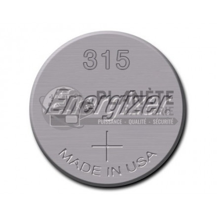 Pile Oxyde d'argent : Pile bouton - Oxyde d'argent 315 - SR67 - 1.55V ENERGIZER