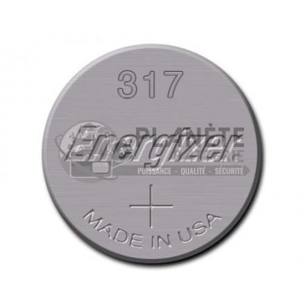 Pile Oxyde d'argent : Pile bouton - Oxyde d'argent 317 - SR62 - 1.55V ENERGIZER