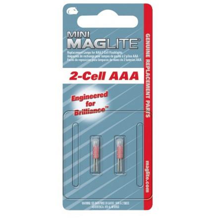 Ampoule Krypton MAGLITE pour torche MAGLITE mini R6 ou super mini R3 - Culot à broches - Lot de 2 ampoules