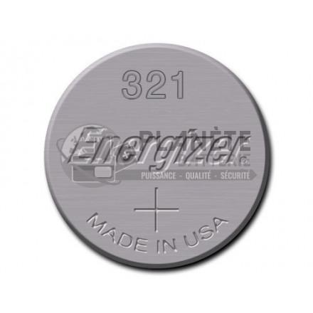 Pile Oxyde d'argent : Pile bouton - Oxyde d'argent  321 - SR65 - 1.55V ENERGIZER