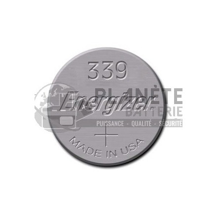 Pile bouton - Oxyde d'argent  339 - SR614 - 1.55V ENERGIZER