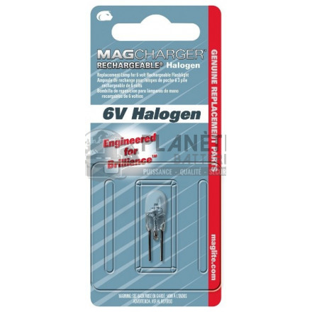 Accessoires et Ampoules : Ampoule Halogène MAGLITE pour lampe torche rechargeable MAG CHARGER - Culot à broches - 6V
