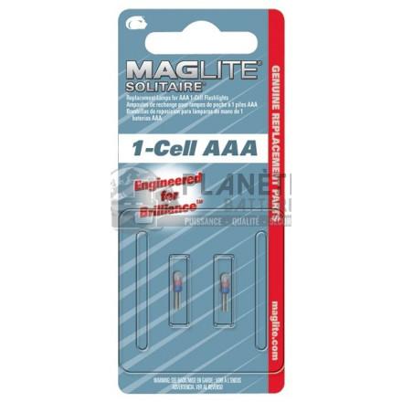 Accessoires et Ampoules : Ampoule Krypton MAGLITE pour torche solitaire MAGLITE - Culot à broches - Lot de 2 ampoules