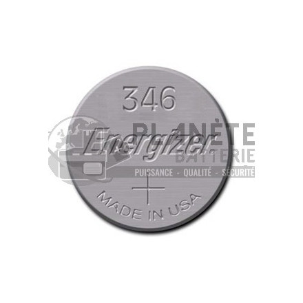 Pile Oxyde d'argent : Pile bouton - Oxyde d'argent 346 - SR712 - 1.55V ENERGIZER