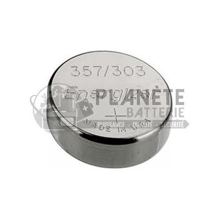 Pile Oxyde d'argent : Pile bouton - Oxyde d'argent 357 - 303 - SR44 - 1.55V - ENERGIZER