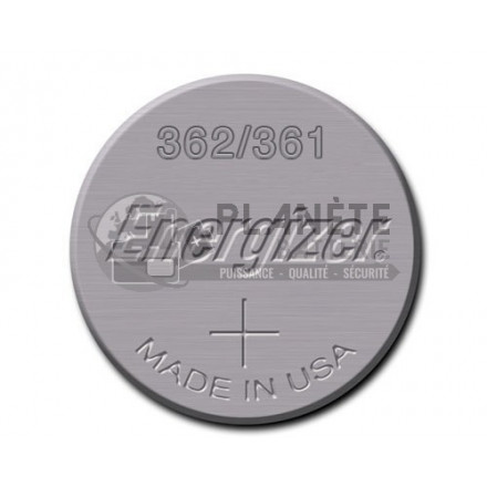 Pile Oxyde d'argent : Pile bouton - Oxyde d'argent  362 - 361 - SR58 - 1.55V - ENERGIZER
