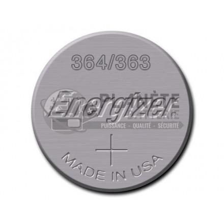 Pile montre oxyde d'argent 364 - 363 - SR60 1.55V - ENERGIZER