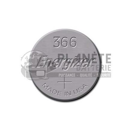 Pile Oxyde d'argent : Pile bouton - Oxyde d'argent  366 - SR1116SW - 1.55V ENERGIZER