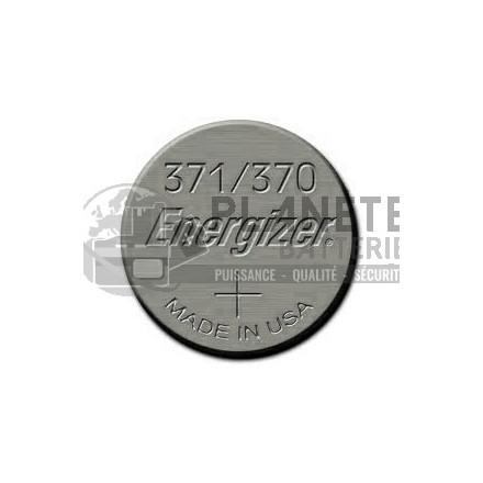 Pile Oxyde d'argent : Pile bouton - Oxyde d'argent  371 - 370 - SR69 - 1.55V - ENERGIZER