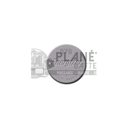 Pile Oxyde d'argent : Pile bouton - Oxyde d'argent  379 - SR63 - 1.55V - ENERGIZER