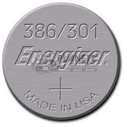 Pile Oxyde d'argent : Pile bouton - Oxyde d'argent 386 - 301 - SR43 - 1.55V - ENERGIZER