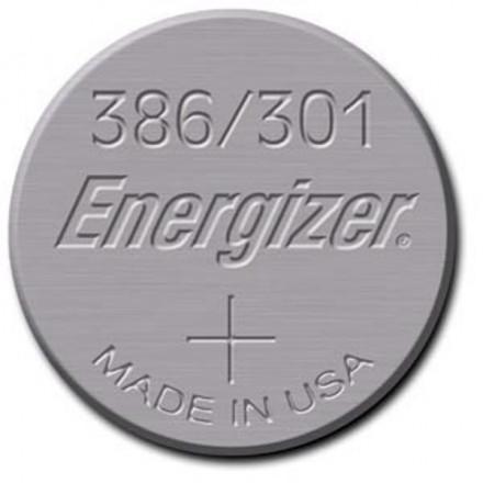 Pile bouton - Oxyde d'argent 386 - 301 - SR43 - 1.55V - ENERGIZER