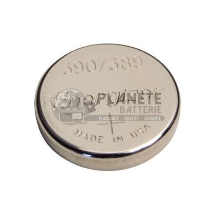 Pile Oxyde d'argent : Pile bouton - Oxyde d'argent  390 - 389 - SR54 - 1.55V - ENERGIZER