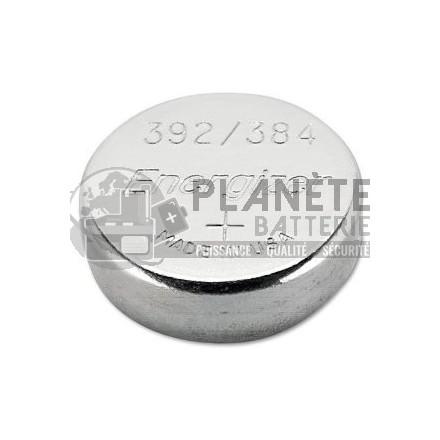 Pile Oxyde d'argent : Pile bouton - Oxyde d'argent  392 - 384 - SR41 - 1.55V - ENERGIZER