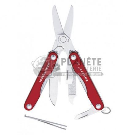 Ciseaux multifonctions métal - LEATHERMAN Squirt S4 rouge - 10 fonctions