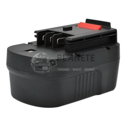 Batterie type BLACK & DECKER A14 / BDGL1440 - 14.4V NiMH 3Ah