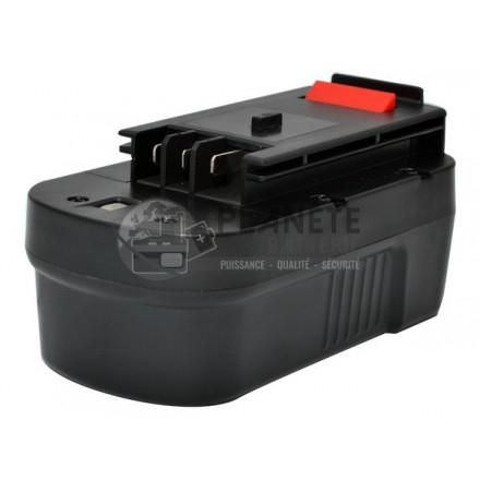 Batterie type BLACK & DECKER NS118 - 18V NiMH 3Ah